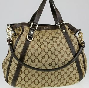 GUCCI🌺🌺AUTHENTIC LARGE ABBEY GG WEB HOBO